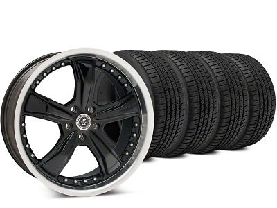 Shelby Razor Black Wheel & Michelin Pilot Sport A/S 3+ Tire Kit - 20x9 (15-19 All)
