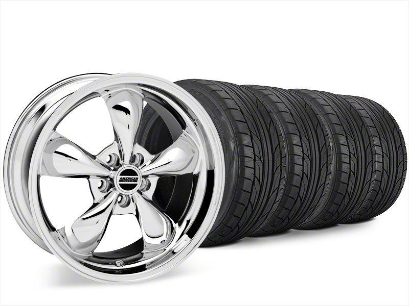Bullitt Chrome Wheel & NITTO NT555 G2 Tire Kit - 20x8.5 (15-19 EcoBoost, V6)
