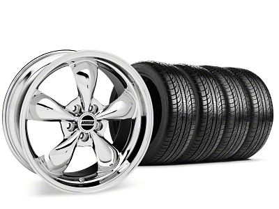 Bullitt Chrome Wheel & Pirelli P-Zero Nero Tire Kit - 19x8.5 (15-19 EcoBoost, V6)