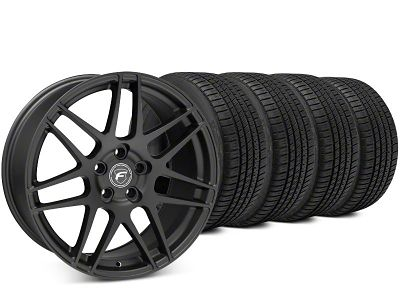 Forgestar F14 Matte Black Wheel & Michelin Pilot Sport A/S 3+ Tire Kit - 20x9 (15-19 All)