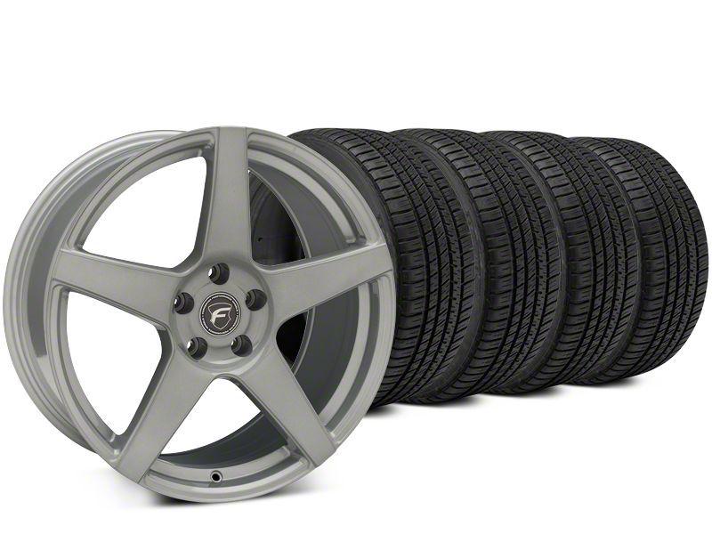 Forgestar CF5 Silver Wheel & Michelin Pilot Sport A/S 3+ Tire Kit - 19x9 (15-19 All)