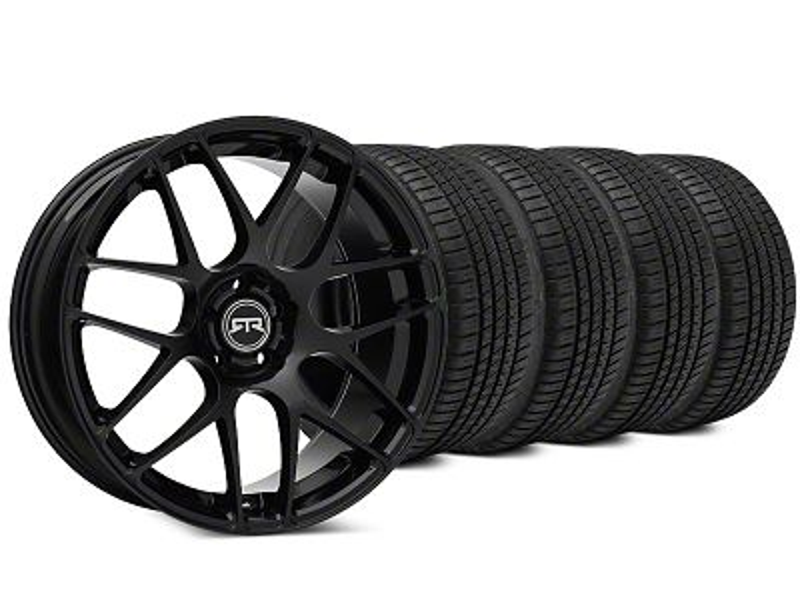 RTR Black Wheel & Michelin Pilot Sport A/S 3+ Tire Kit - 19x8.5 (15-19 All)