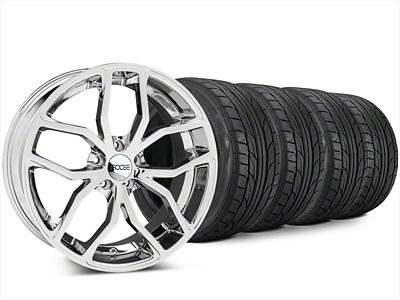 Foose Outcast Chrome Wheel & NITTO NT555 G2 Tire Kit - 20x8.5 (15-19 All)