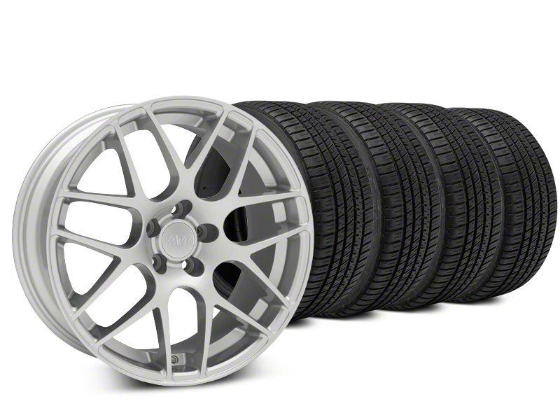 AMR Silver Wheel & Michelin Pilot Sport A/S 3+ Tire Kit - 19x8.5 (15-19 GT, EcoBoost, V6)
