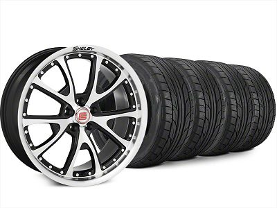 Shelby CS40 Black Machined Wheel & NITTO NT555 G2 Tire Kit - 20x9 (15-17 All)