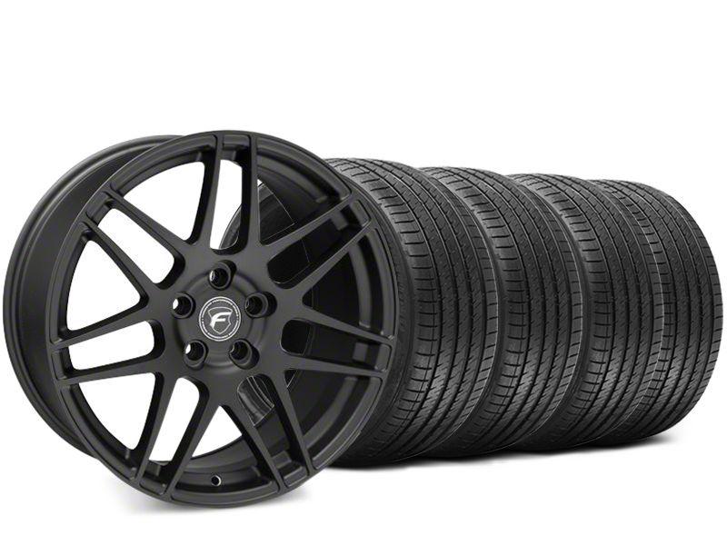 Forgestar F14 Matte Black Wheel & Sumitomo HTR Z III Tire Kit - 19x9.5 (15-19 GT, EcoBoost, V6)