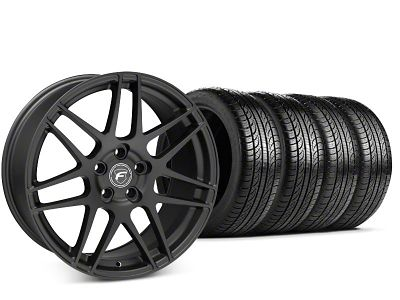 Forgestar F14 Matte Black Wheel & Pirelli P-Zero Nero Tire Kit - 19x9.5 (15-19 GT, EcoBoost, V6)