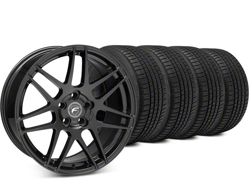 Forgestar F14 Piano Black Wheel & Michelin Pilot Sport A/S 3+ Tire Kit - 19x9.5 (15-19 All)