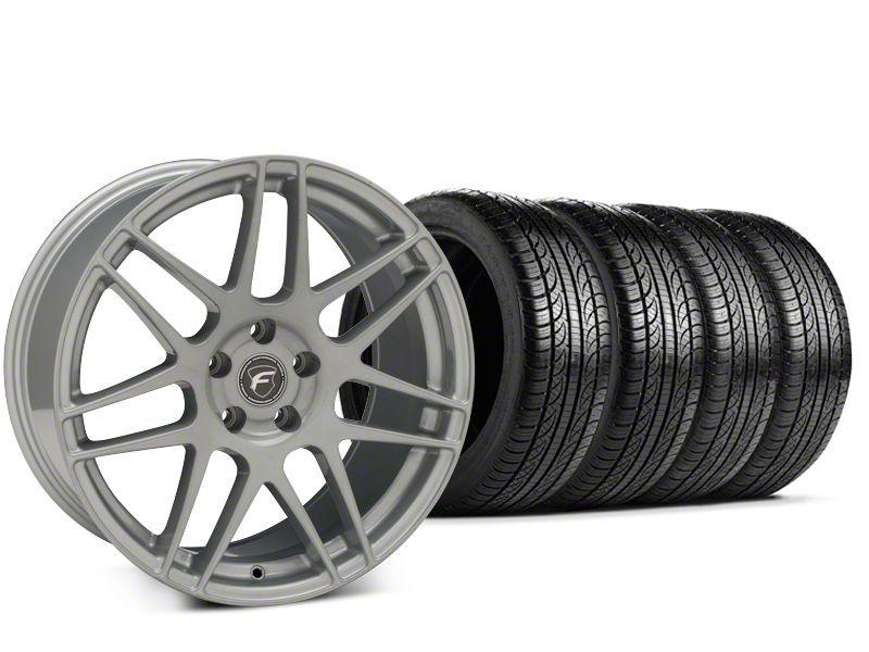 Forgestar F14 Silver Wheel & Pirelli P-Zero Nero Tire Kit - 19x9.5 (15-19 All)