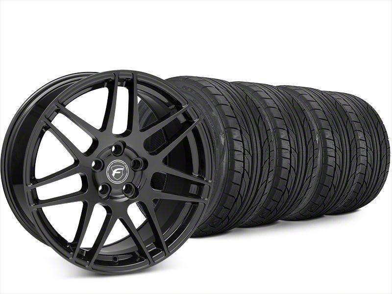 Forgestar F14 Piano Black Wheel & NITTO NT555 G2 Tire Kit - 20x9.5 (15-19 All)