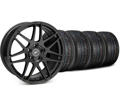 Forgestar F14 Piano Black Wheel & NITTO INVO Tire Kit - 20x9.5 (15-19 GT, EcoBoost, V6)