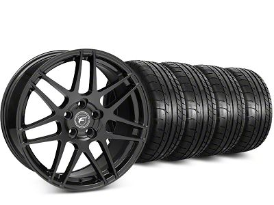 Forgestar F14 Piano Black Wheel & Mickey Thompson Street Comp Tire Kit - 20x9.5 (15-19 GT, EcoBoost, V6)