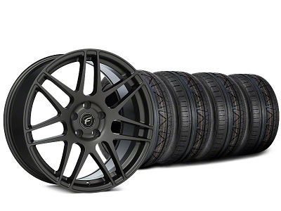 Forgestar F14 Gunmetal Wheel & NITTO INVO Tire Kit - 20x9.5 (15-19 GT, EcoBoost, V6)