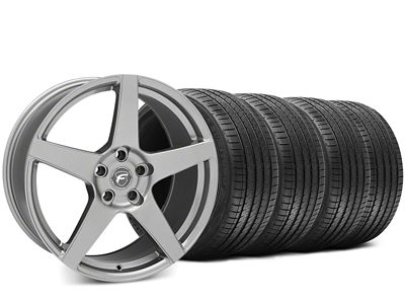 Forgestar CF5 Gunmetal Wheel & Sumitomo HTR Z III Tire Kit - 19x9.5 (15-19 GT, EcoBoost, V6)
