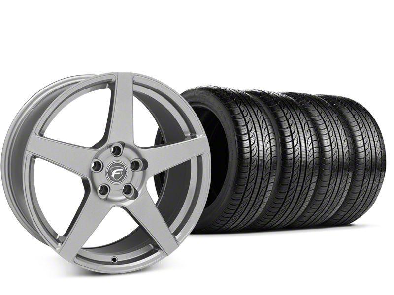 Forgestar CF5 Gunmetal Wheel & Pirelli P-Zero Nero Tire Kit - 19x9.5 (15-19 GT, EcoBoost, V6)
