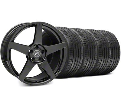 Forgestar CF5 Piano Black Wheel & Sumitomo HTR Z III Tire Kit - 19x9.5 (15-19 GT, EcoBoost, V6)