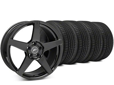 Forgestar CF5 Piano Black Wheel & Michelin Pilot Sport A/S 3+ Tire Kit - 20x9.5 (15-19 All)