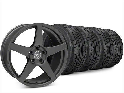 Forgestar CF5 Matte Black Wheel & NITTO NT555 G2 Tire Kit - 20x9.5 (15-19 All)