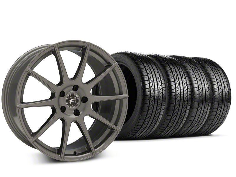Forgestar CF10 Gunmetal Wheel & Pirelli P-Zero Nero Tire Kit - 19x9.5 (15-19 GT, EcoBoost, V6)