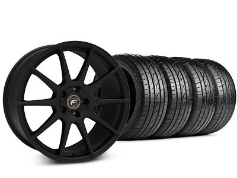 Forgestar CF10 Textured Matte Black Wheel & Sumitomo HTR Z III Tire Kit - 19x9.5 (15-18 GT, EcoBoost, V6)