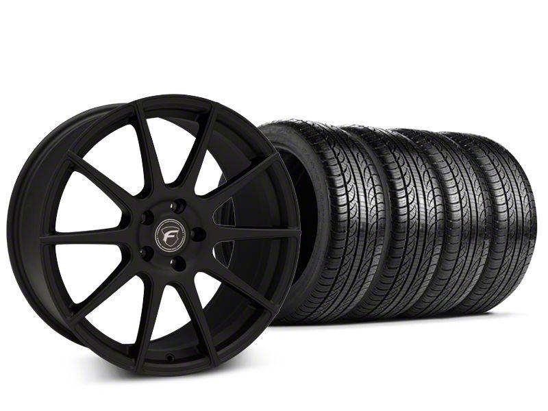Forgestar CF10 Textured Matte Black Wheel & Pirelli P-Zero Nero Tire Kit - 19x9.5 (15-18 GT, EcoBoost, V6)