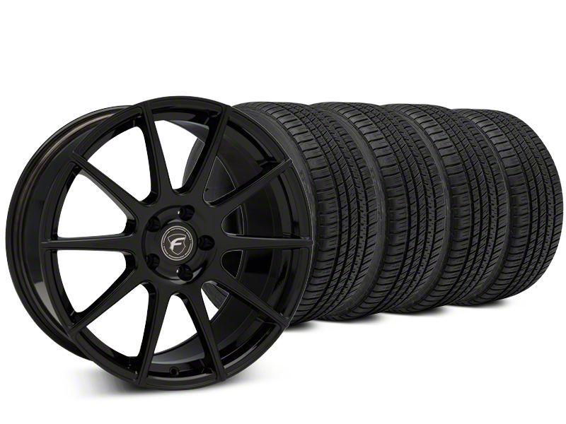Forgestar CF10 Piano Black Wheel & Michelin Pilot Sport A/S 3+ Tire Kit - 20x9.5 (15-19 All)
