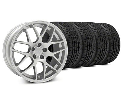 AMR Silver Wheel & Michelin Pilot Sport A/S 3+ Tire Kit - 20x8.5 (15-19 GT, EcoBoost, V6)