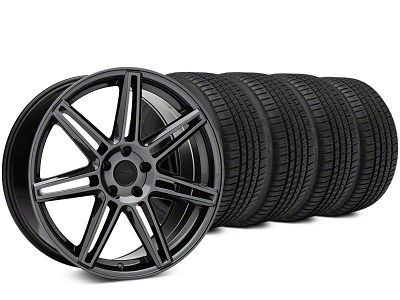Niche Lucerne Black Chrome Wheel & Michelin Pilot Sport A/S 3+ Tire Kit - 20x9 (15-17 All)