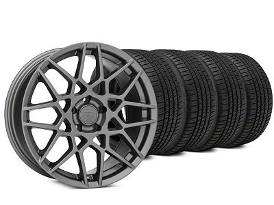 2013 GT500 Style Charcoal Wheel & Michelin Pilot Sport A/S 3+ Tire Kit - 19x8.5 (15-19 GT, EcoBoost, V6)