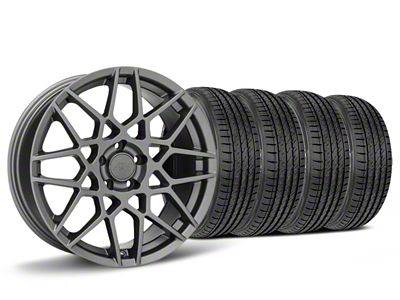 2013 GT500 Style Charcoal Wheel & Sumitomo HTR Z III Tire Kit - 19x8.5 (15-19 GT, EcoBoost, V6)