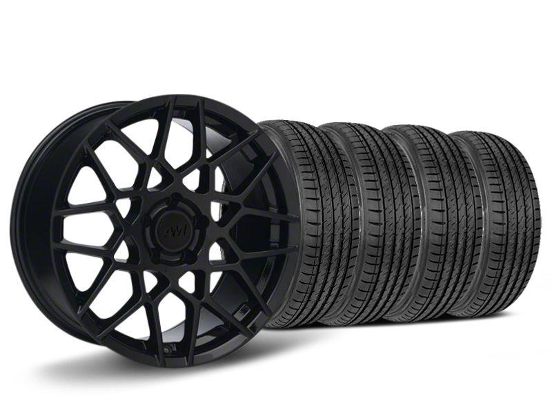 2013 GT500 Style Gloss Black Wheel & Sumitomo HTR Z III Tire Kit - 19x9.5 (15-19 GT, EcoBoost, V6)