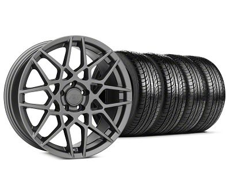 2013 GT500 Style Charcoal Wheel & Pirelli P-Zero Nero Tire Kit - 19x9.5 (15-19 GT, EcoBoost, V6)
