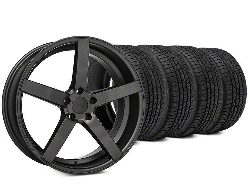Rovos Durban Satin Gunmetal & Michelin Pilot Sport A/S 3+ Tire Kit - 20x8.5 (15-19 All)