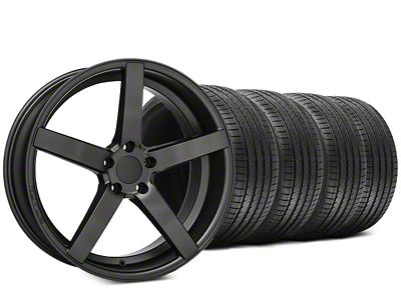 Rovos Durban Satin Gunmetal & Sumitomo HTR Z III Tire Kit - 20x8.5 (15-19 GT, EcoBoost, V6)