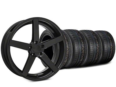 Rovos Durban Gloss Black & NITTO INVO Tire Kit - 20x8.5 (15-19 GT, EcoBoost, V6)