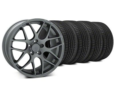 AMR Charcoal Wheel & Michelin Pilot Sport A/S 3+ Tire Kit - 20x8.5 (15-19 GT, EcoBoost, V6)