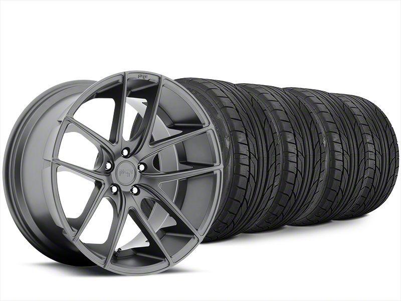 Staggered Niche Targa Matte Anthracite Wheel & NITTO NT555 G2 Tire Kit - 20x8.5/10 (15-19 All)