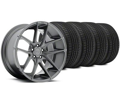 Staggered Niche Targa Matte Anthracite Wheel & Michelin Pilot Sport A/S 3+ Tire Kit - 20x8.5/10 (15-19 All)