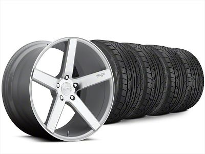 Staggered Niche Milan Silver Wheel & NITTO NT555 G2 Tire Kit - 20x8.5/10 (15-19 All)