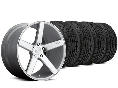 Staggered Niche Milan Silver Wheel & Michelin Pilot Sport A/S 3+ Tire Kit - 20x8.5/10 (15-19 All)