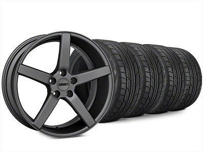 Staggered MMD 551C Charcoal Wheel & NITTO NT555 G2 Tire Kit - 20x8.5/10 (15-19 GT, EcoBoost, V6)