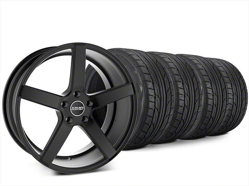 Staggered MMD 551C Matte Black Wheel & NITTO NT555 G2 Tire Kit - 20x8.5/10 (15-19 GT, EcoBoost, V6)