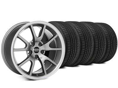 Staggered FR500 Style Anthracite Wheel & Michelin Pilot Sport A/S 3+ Tire Kit - 20x8.5/10 (15-19 All)