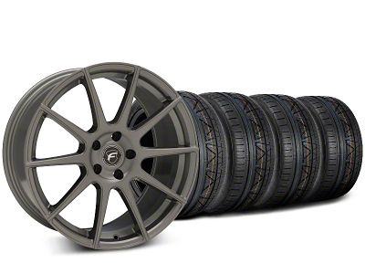 Staggered Forgestar CF10 Gunmetal Wheel & NITTO INVO Tire Kit - 20x9 (15-19 GT, EcoBoost, V6)
