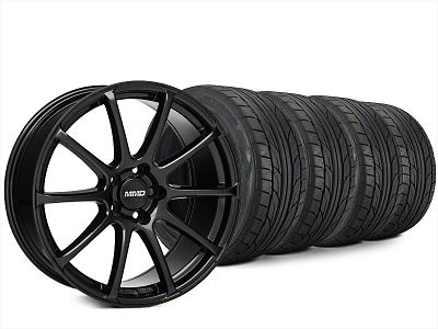Staggered MMD Axim Black Wheel & NITTO NT555 G2 Tire Kit - 20x8.5/10 (15-19 All)