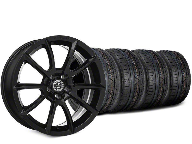 Staggered Super Snake Style Black Wheel & NITTO INVO Tire Kit - 19x8.5/10 (15-19 GT, EcoBoost, V6)