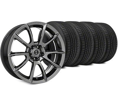 Staggered Super Snake Style Chrome Wheel & Michelin Pilot Sport A/S 3+ Tire Kit - 19x8.5/10 (15-19 All)