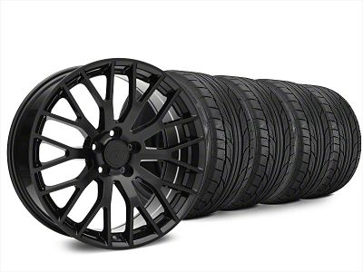 Staggered Performance Pack Style Black Wheel & NITTO NT555 G2 Tire Kit - 20x8.5/10 (15-19 GT, EcoBoost, V6)