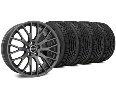 Staggered Performance Charcoal Wheel & Michelin Pilot Sport A/S 3+ Tire Kit - 19x8.5/10 (15-19 GT, EcoBoost, V6)