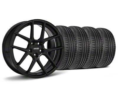 MMD Staggered Zeven Black Wheel & Sumitomo HTR Z III Tire Kit - 19x8.5/10 (15-19 GT, EcoBoost, V6)